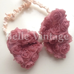 Rose Bow Hairband - Vintage Dusky Rose Pink